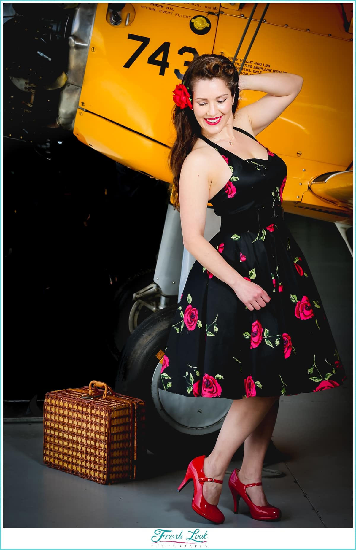 romantic pin up girl photography
