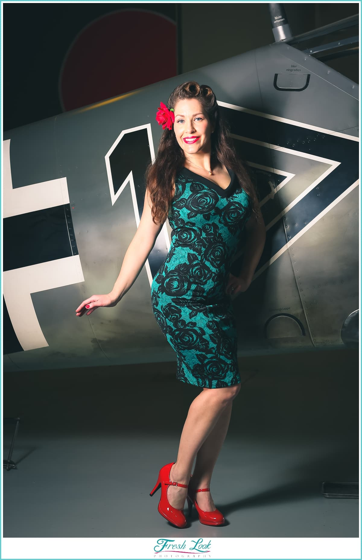 Vintage photoshoot at Military Aviation Museum