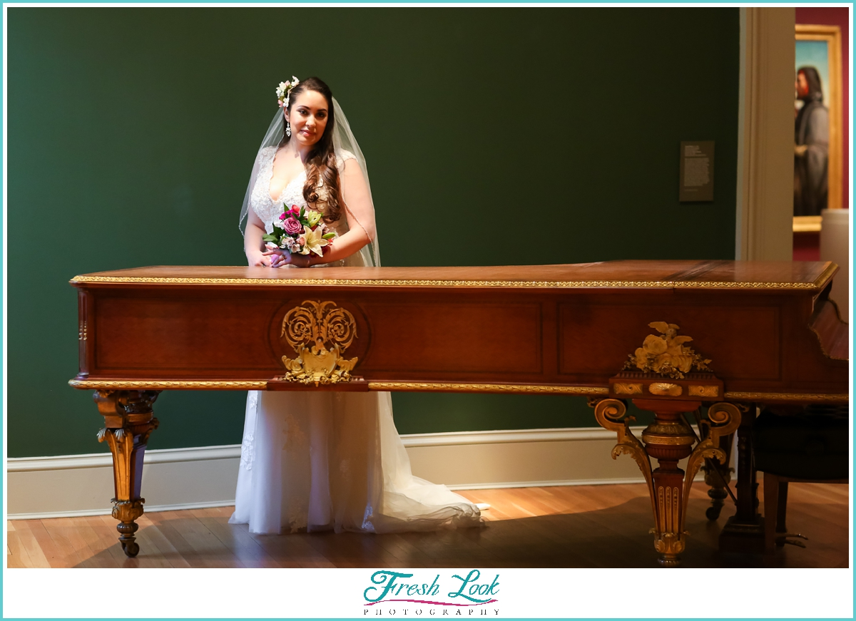 artistic bridal portraits at Norfolk Museum