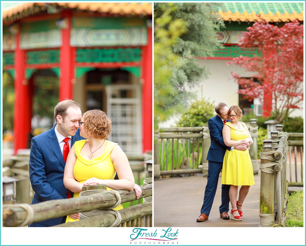 Norfolk Pagoda and Tea House Engagement Photos