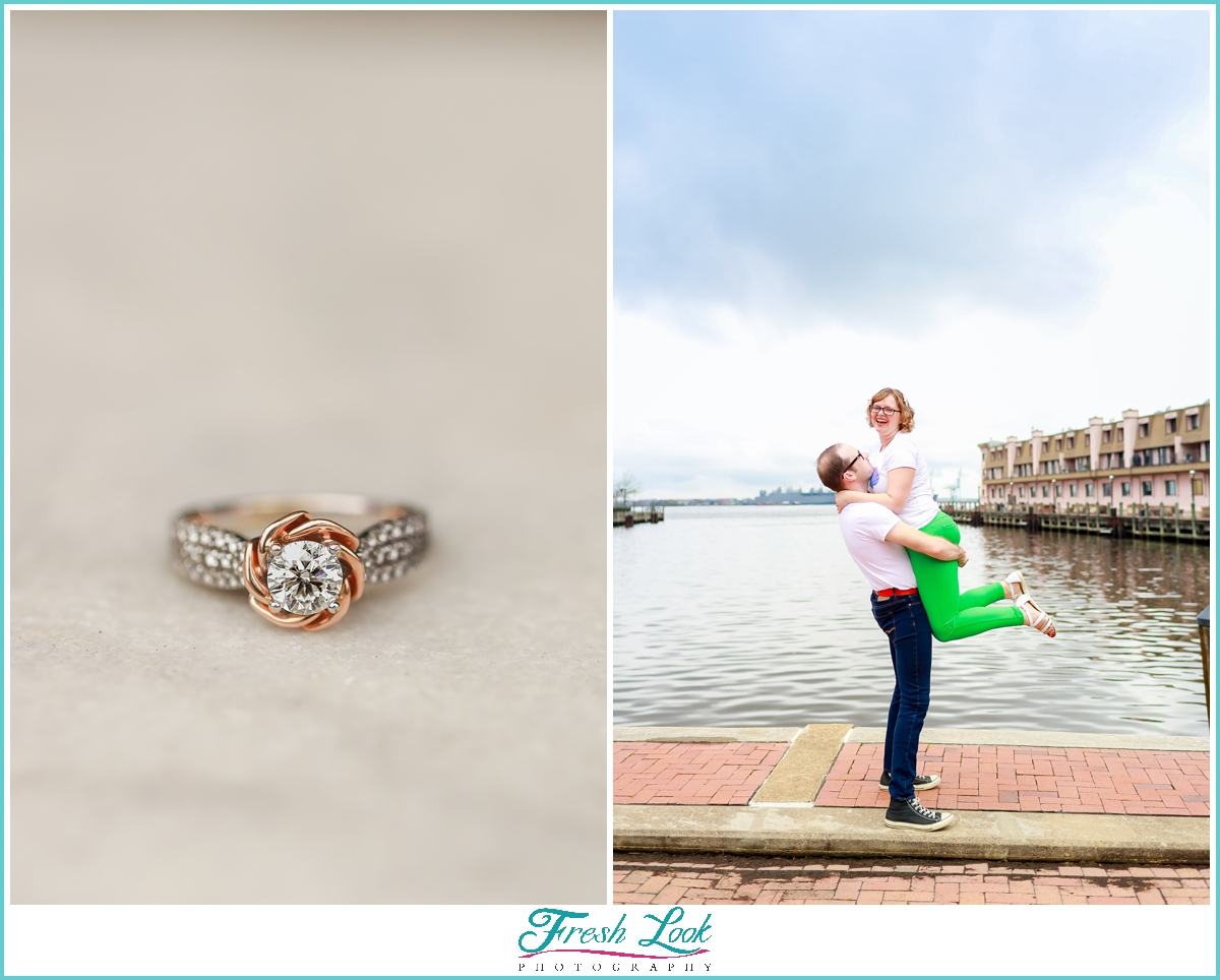 love by the water engagement session