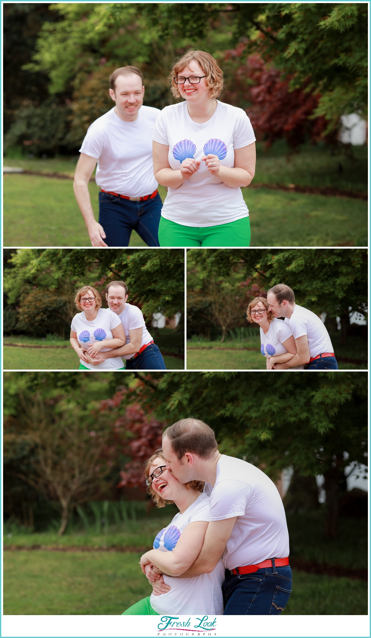 silly engagement session photos