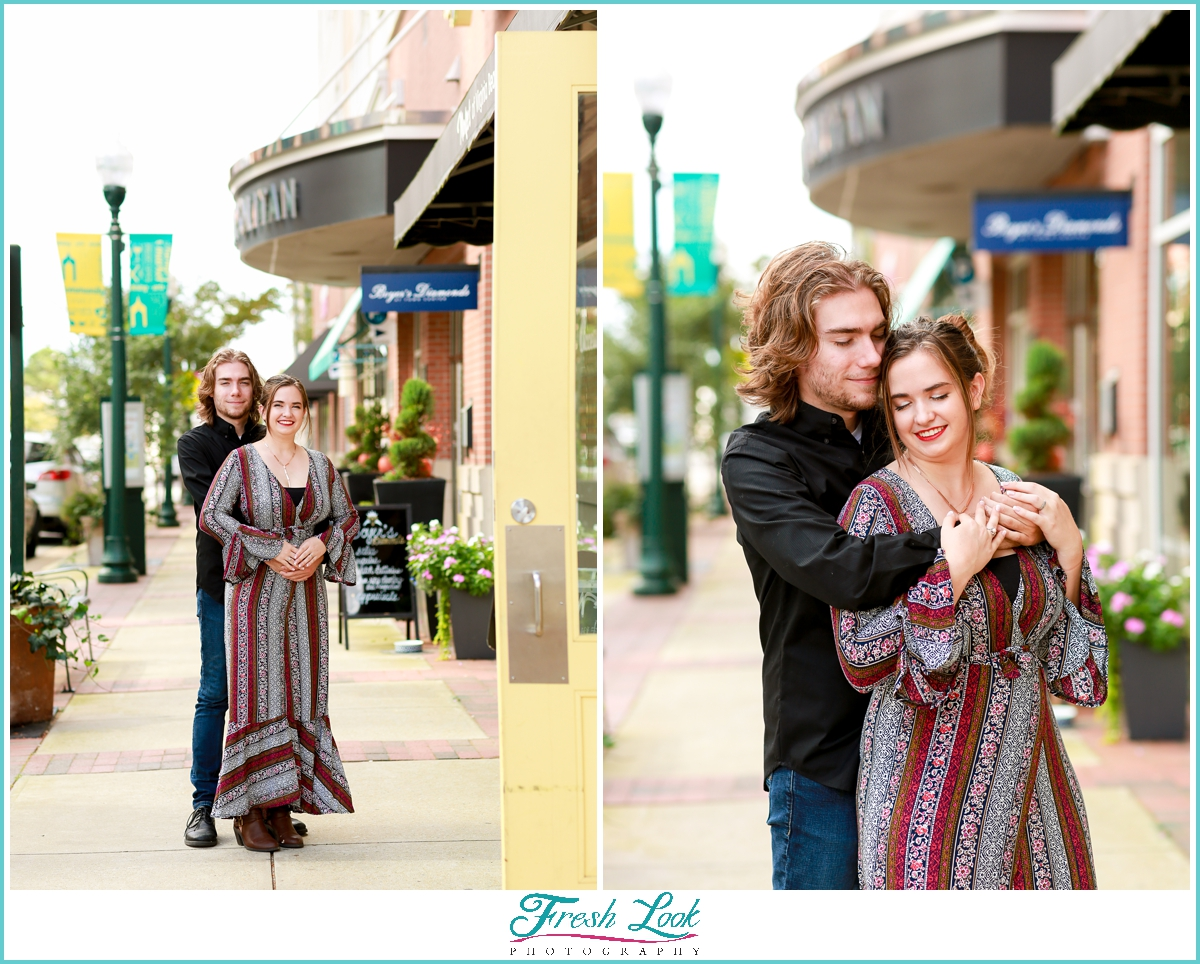 Town Center Virginia Beach Engagement photos