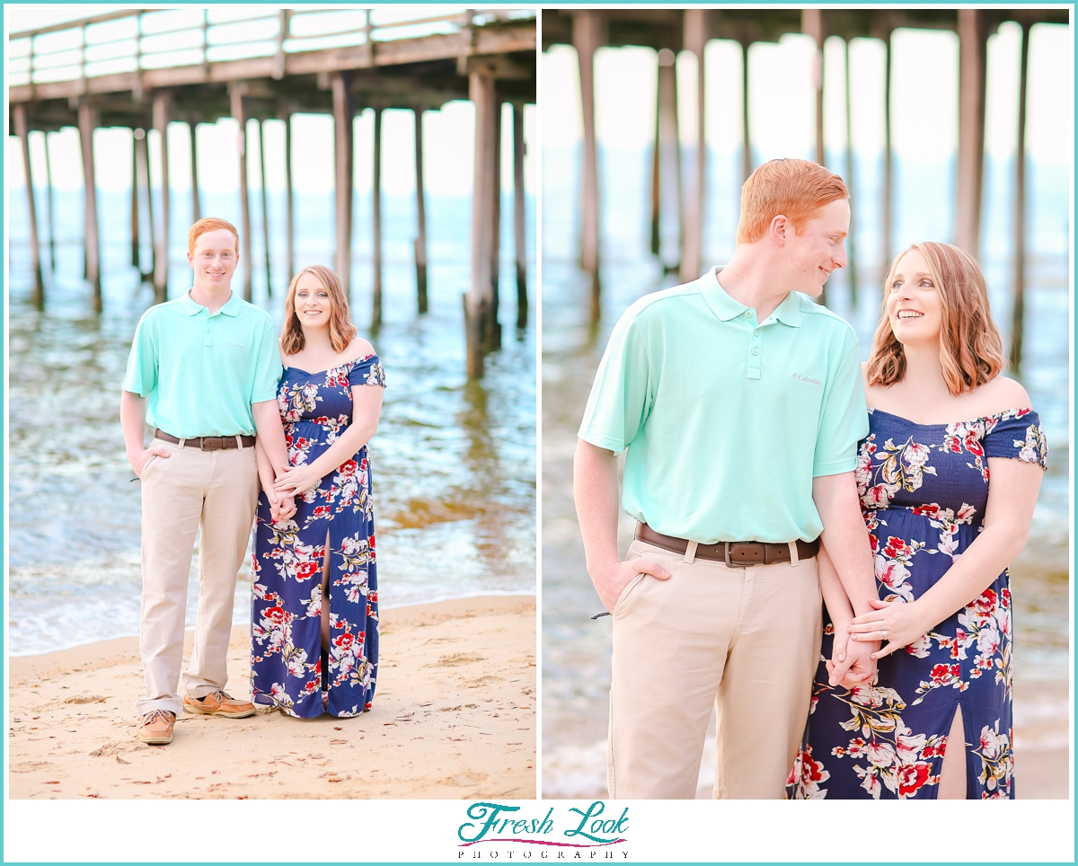 romantic beach photoshoot