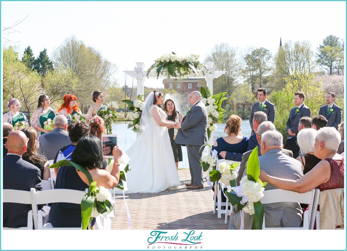 Virginia Beach outdoor wedding ceremony