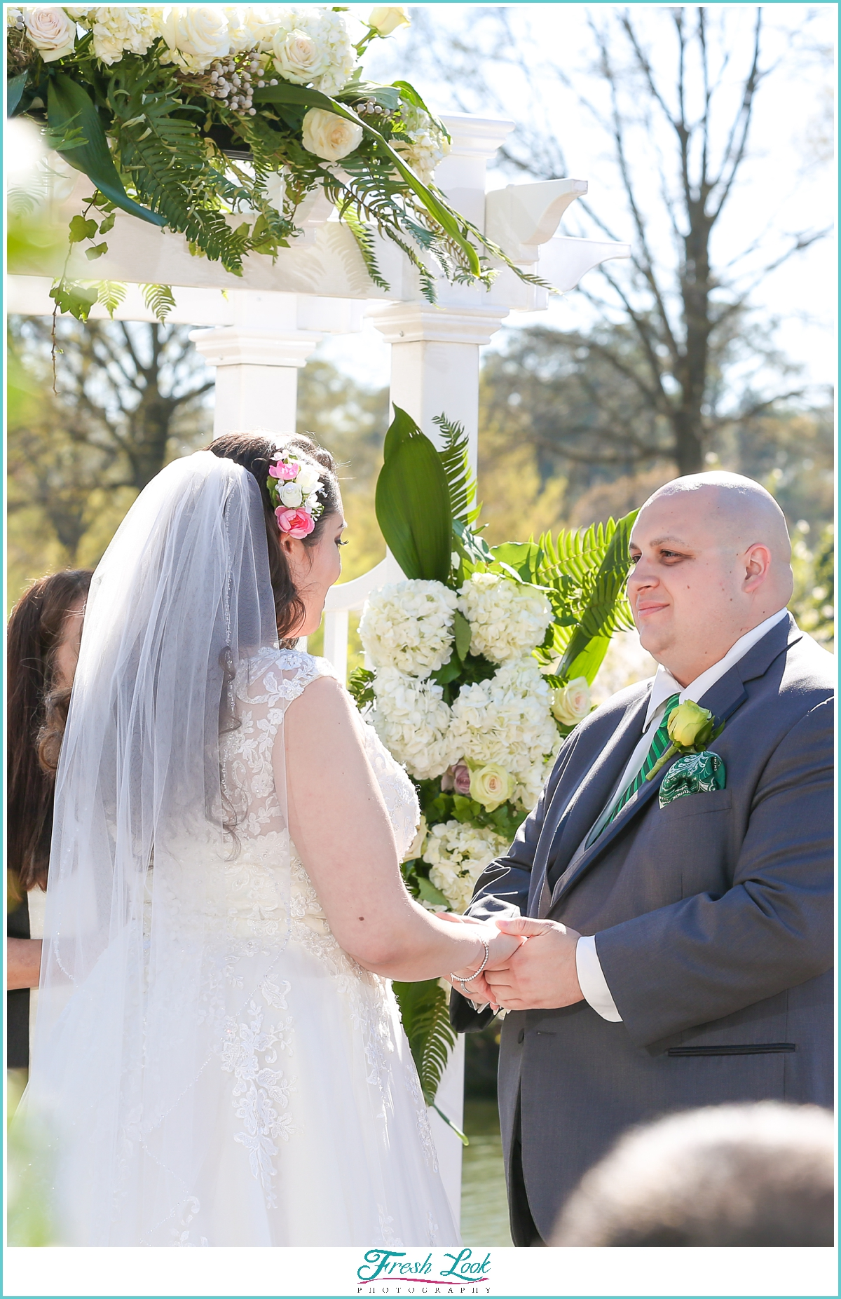 groom adoring his bride during the wedding