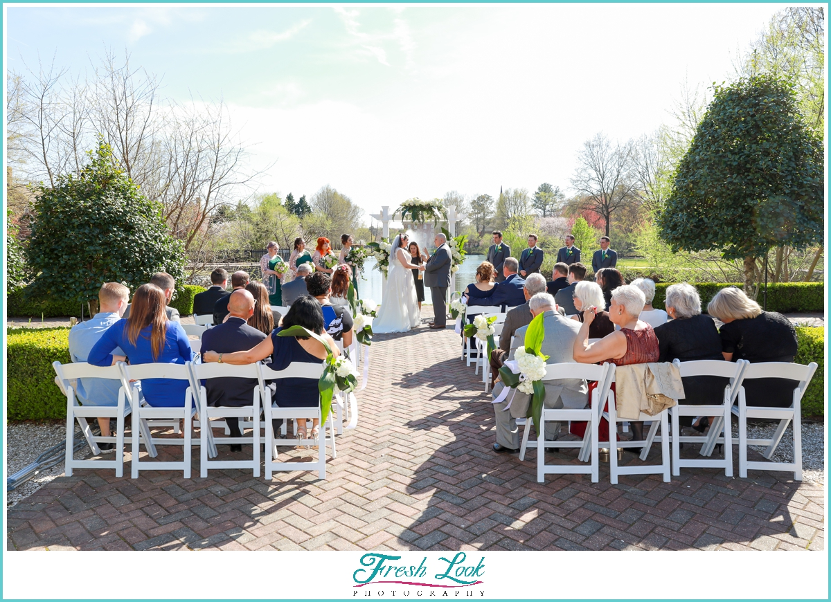 Founders Inn Outdoor Wedding Ceremony