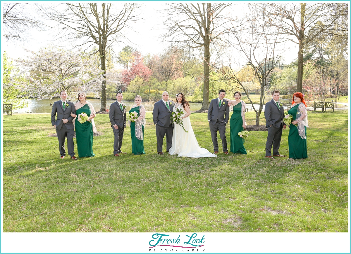 classy bridal party photos
