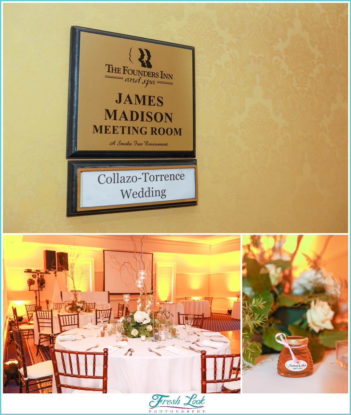 Founders Inn Wedding Reception