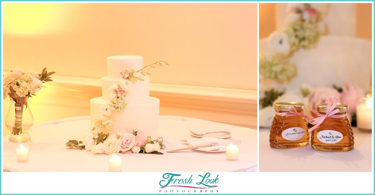 wedding cake and local honey