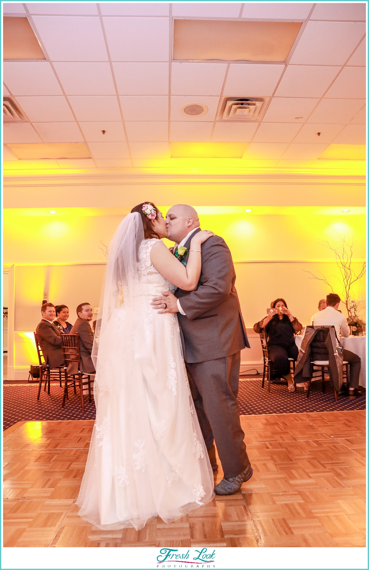 First Dance for bride and groom at reception