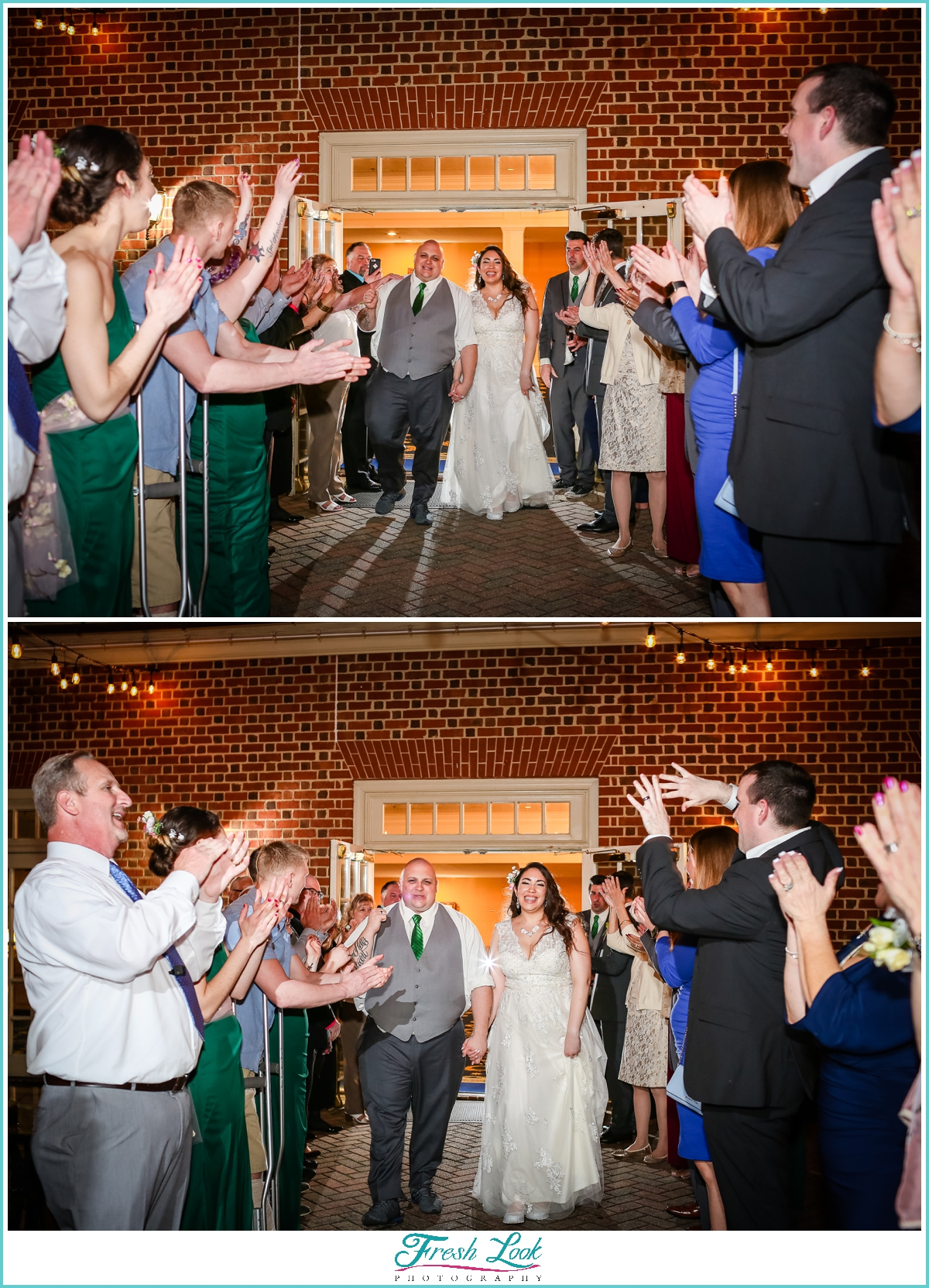 grand finale at wedding reception