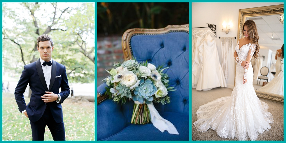 French Blue and Lavender wedding