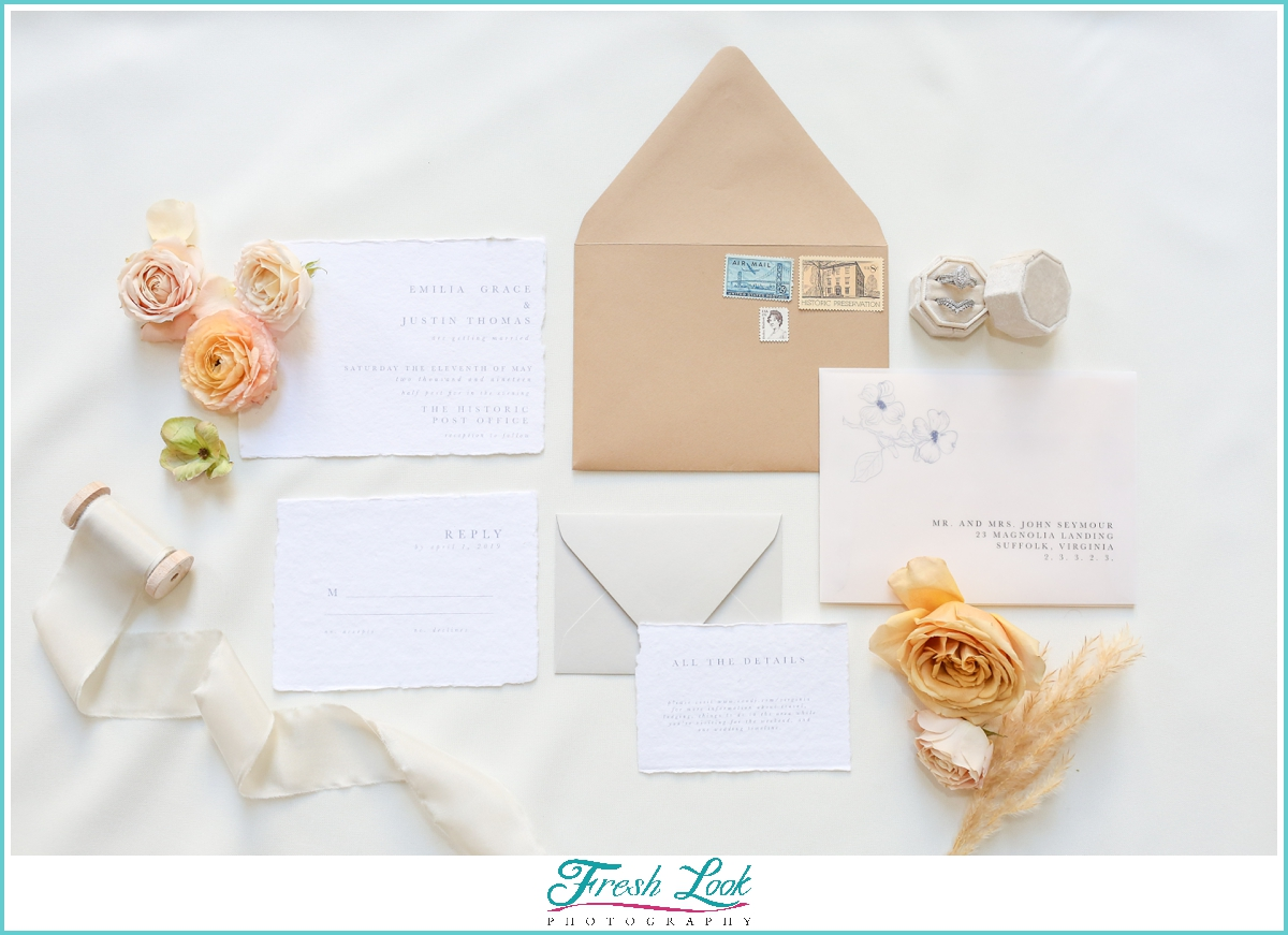 bohemian wedding stationery set