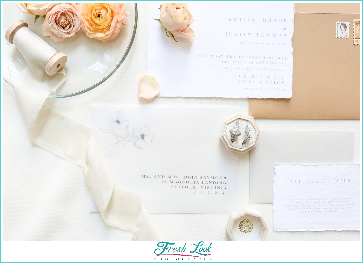 romantic wedding stationery set