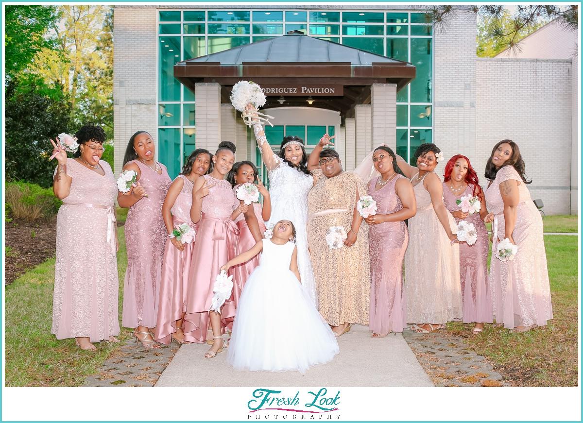 fun bridesmaids portraits