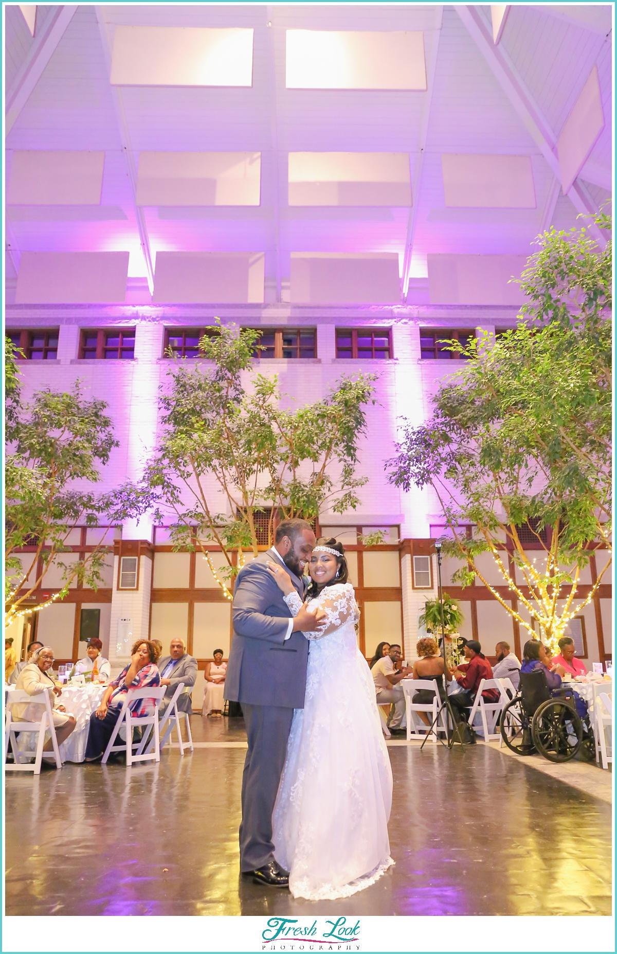 Virginia MOCA wedding reception