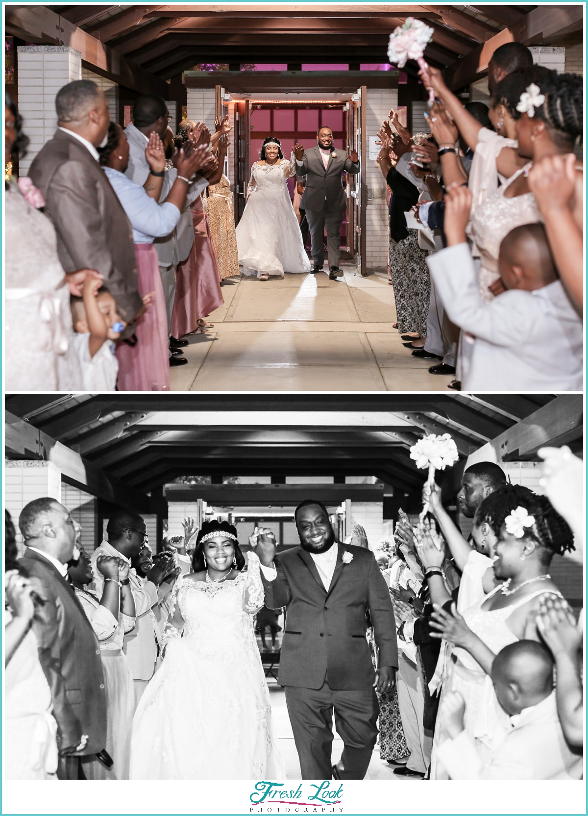 grand exit from wedding reception