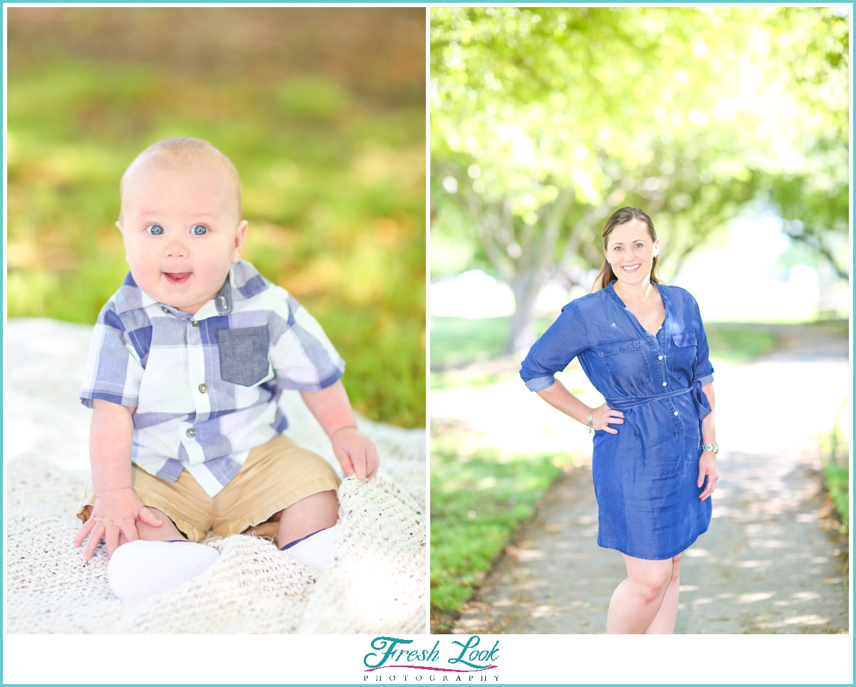 mommy and baby photos in the park