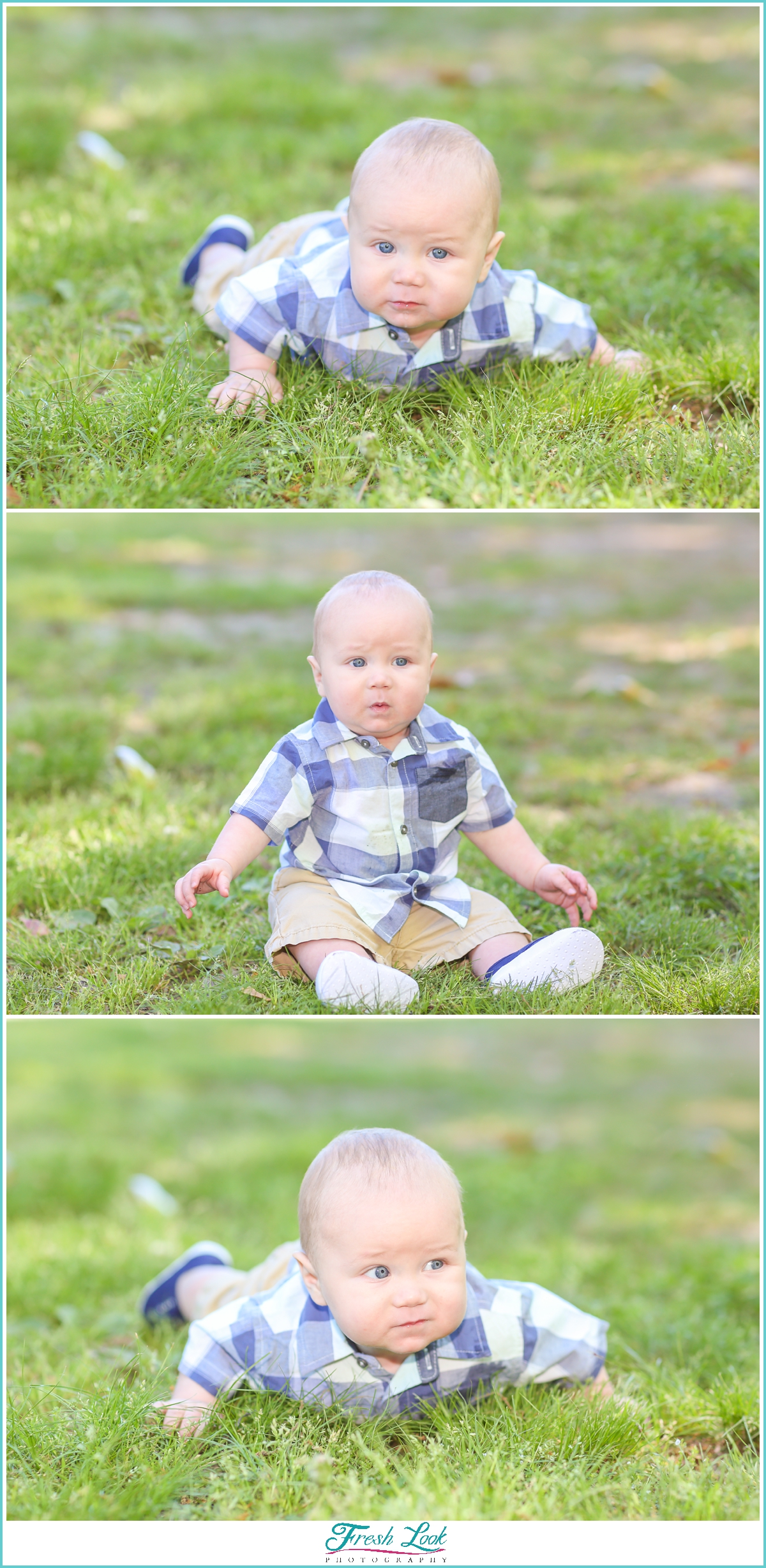 baby boy 6 month photoshoot