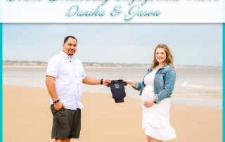 Beach Maternity Engagement Shoot