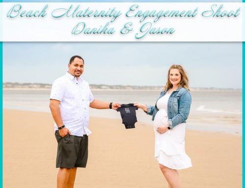 Beach Maternity Engagement Shoot | Danika+Jason