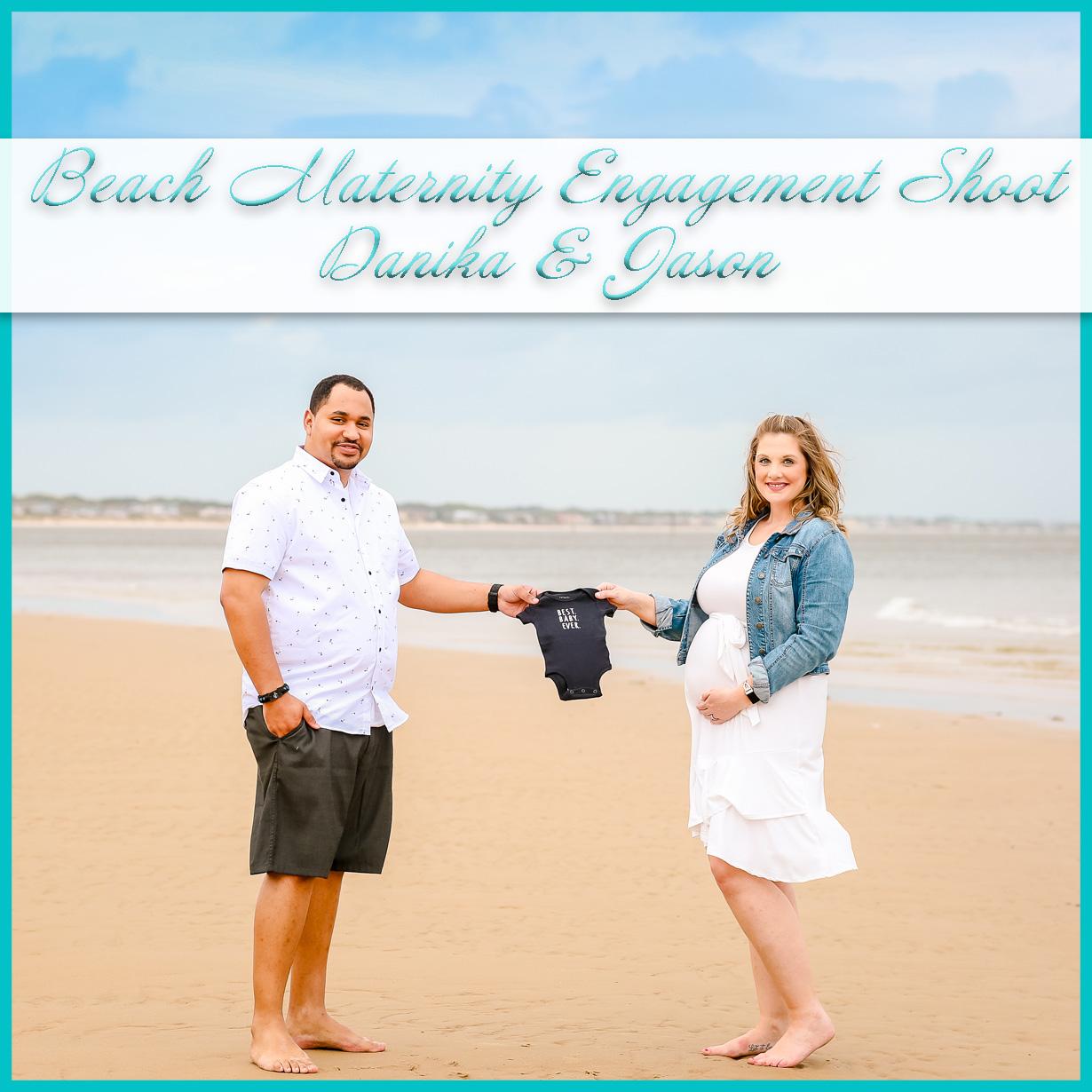 Beach Maternity Engagement Shoot