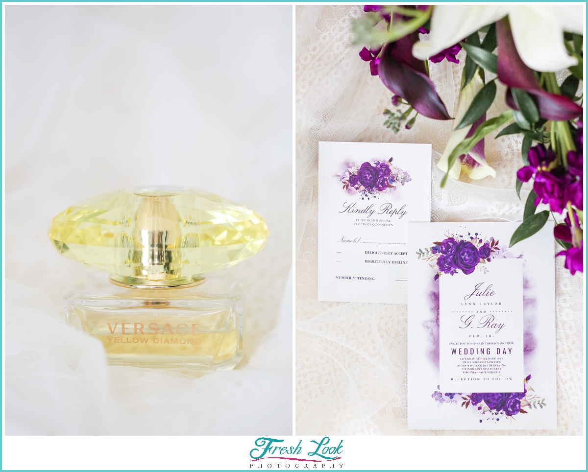perfume and wedding invitations