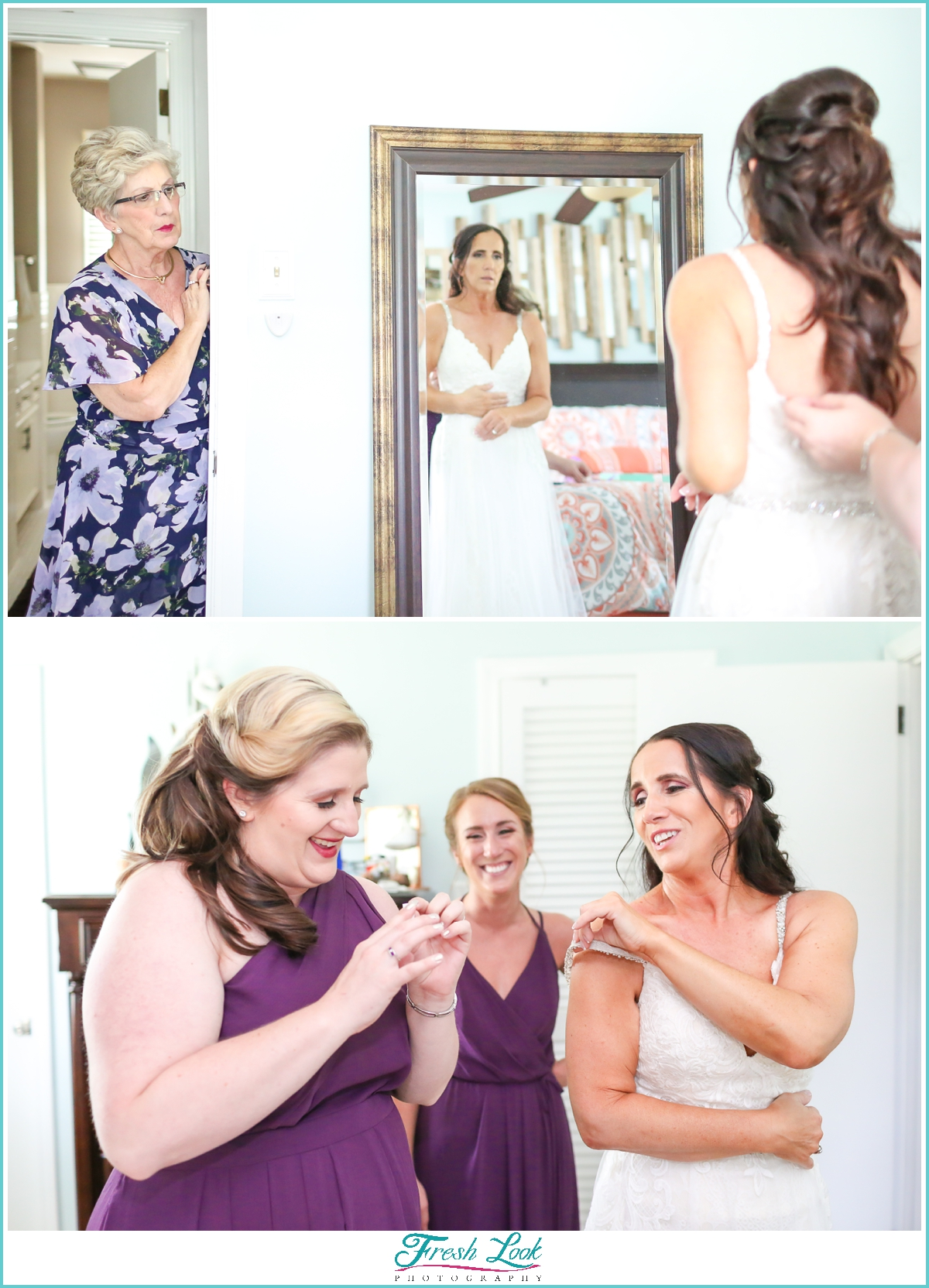 getting ready for the wedding photos