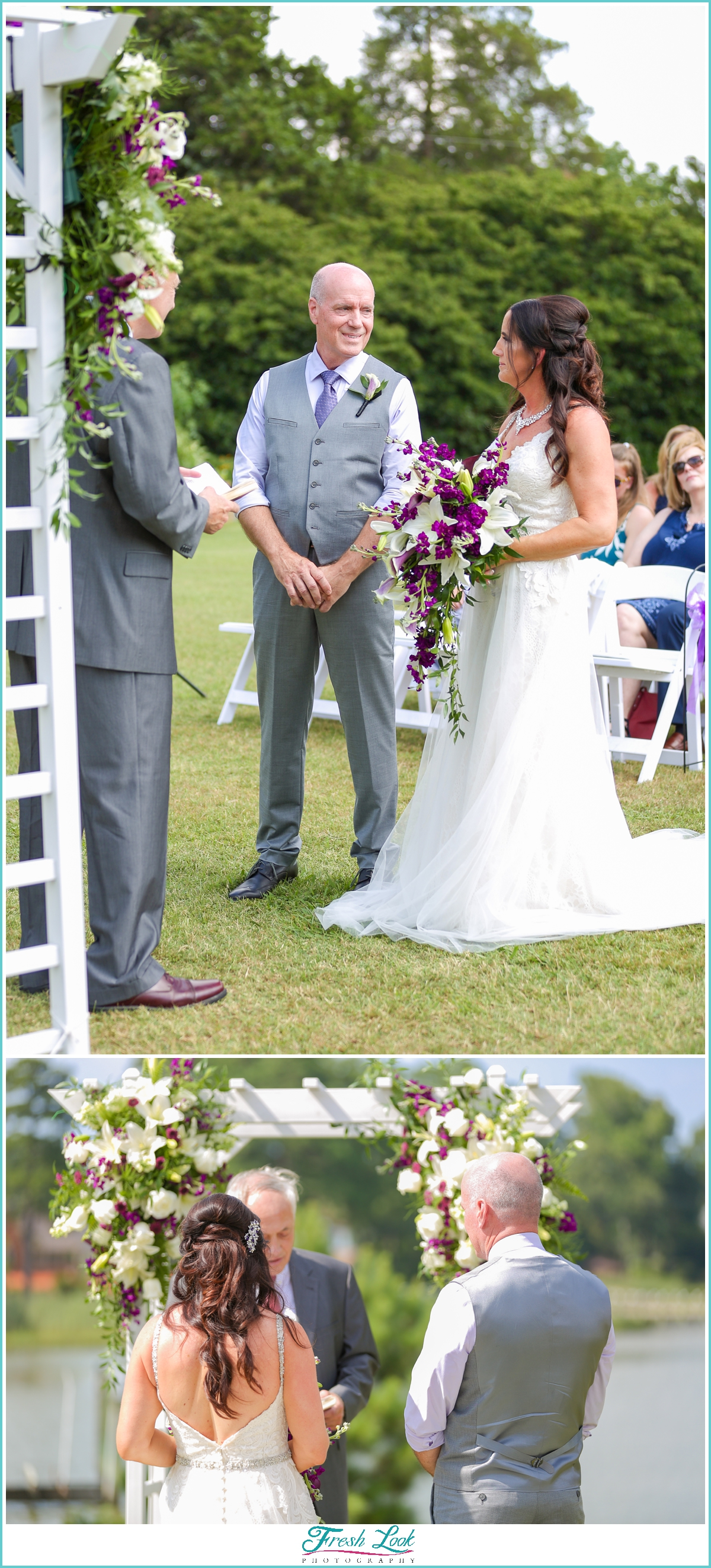 romantic summer wedding ceremony
