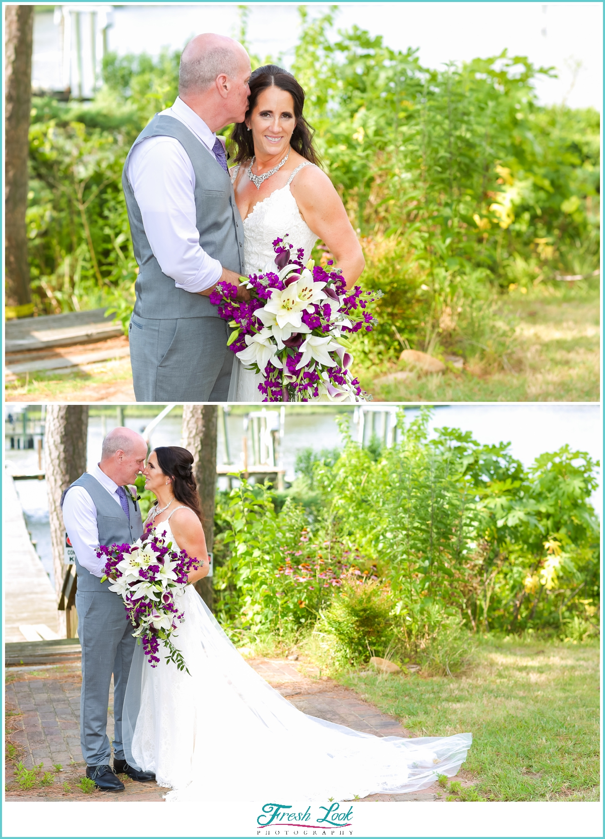 romantic Virginia Beach wedding photos