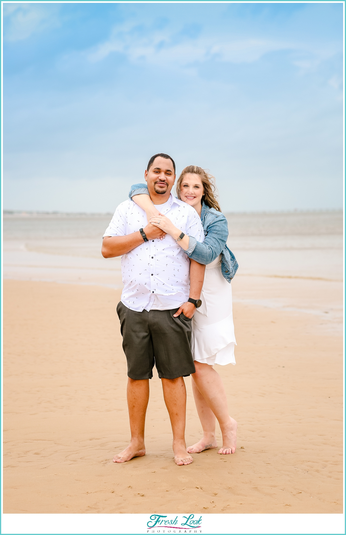 couples engagement shoot on the beach