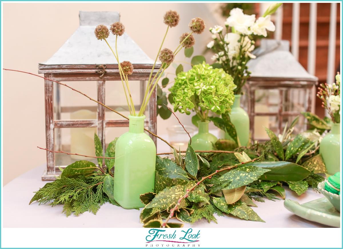 green spring themed wedding