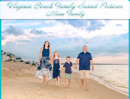 Family Sunset Pictures on the Beach | Mann Family