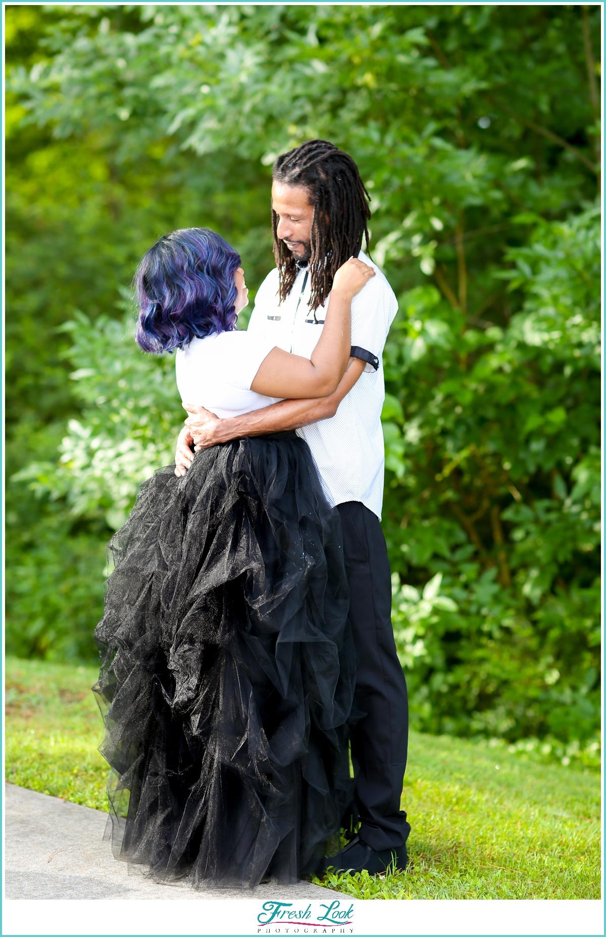 romantic Virginia engagement photos