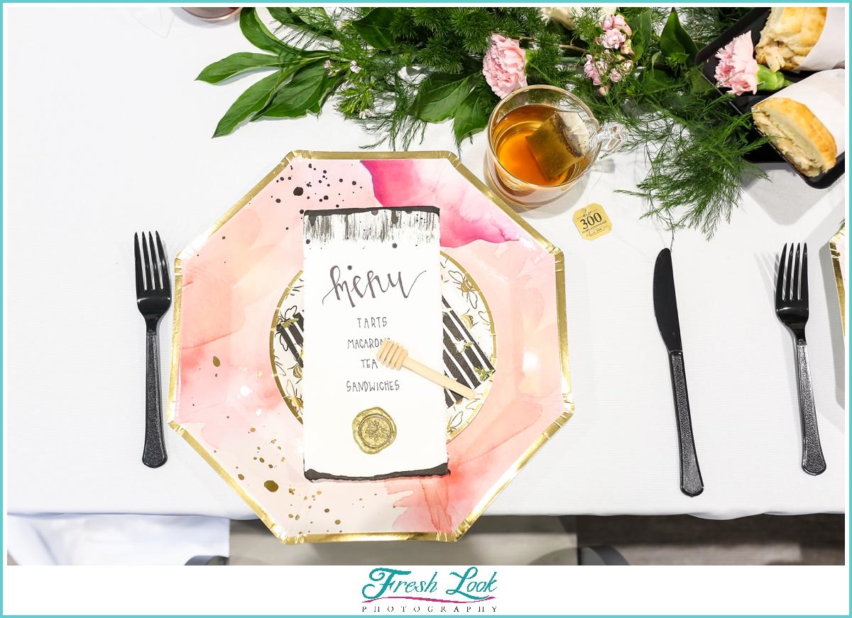 bridal brunch food menu