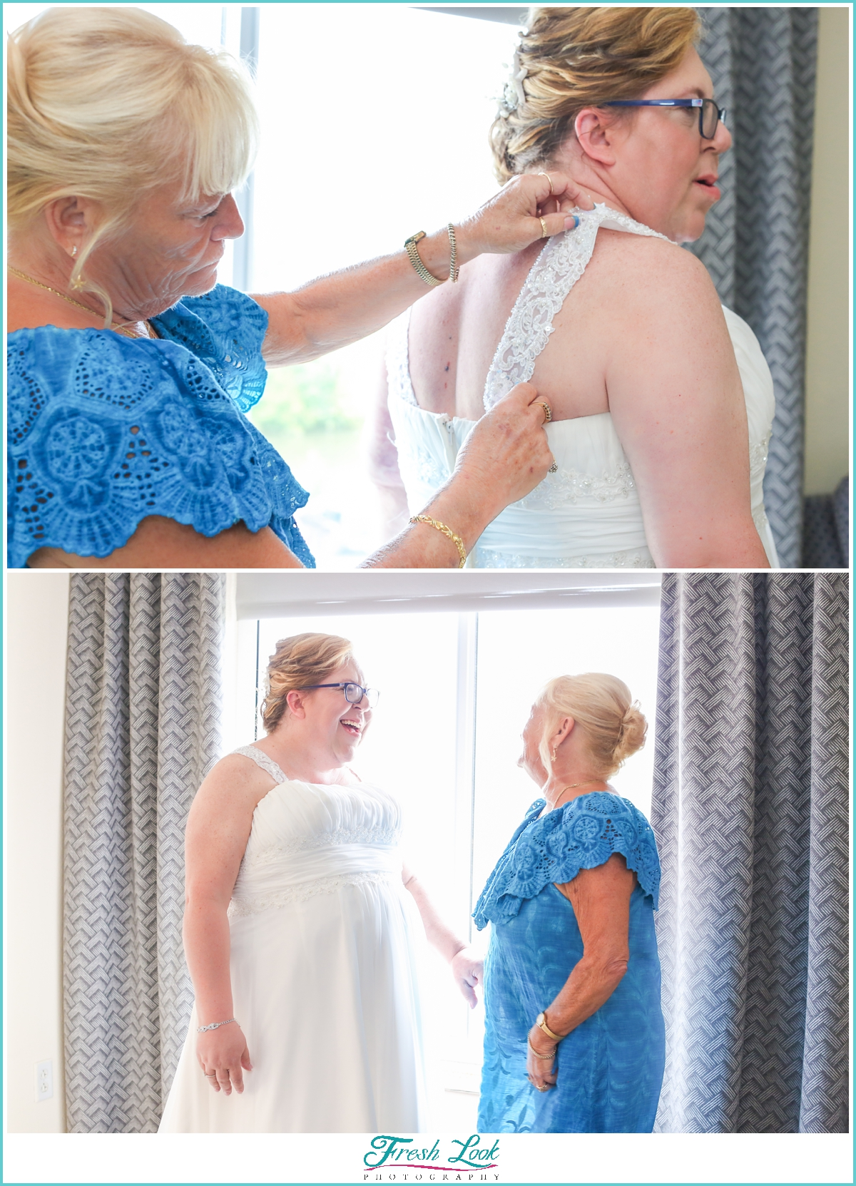 bride and mother before the wedding