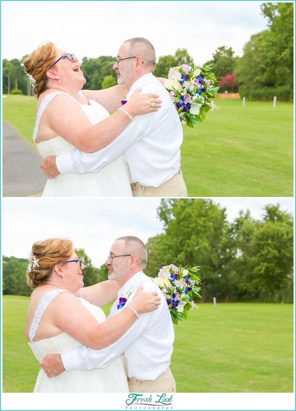 fun Virginia Wedding photographer