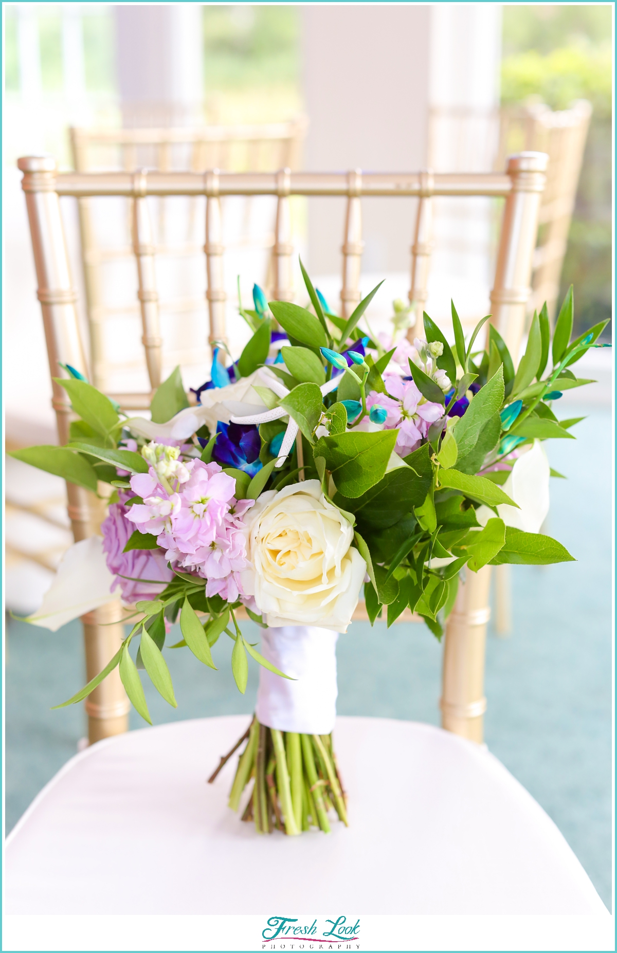 purple and blue tropical wedding bouquet