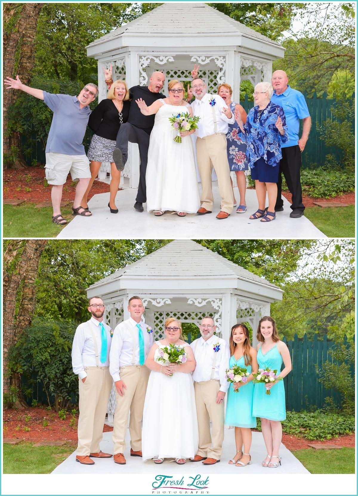 fun photos after the wedding
