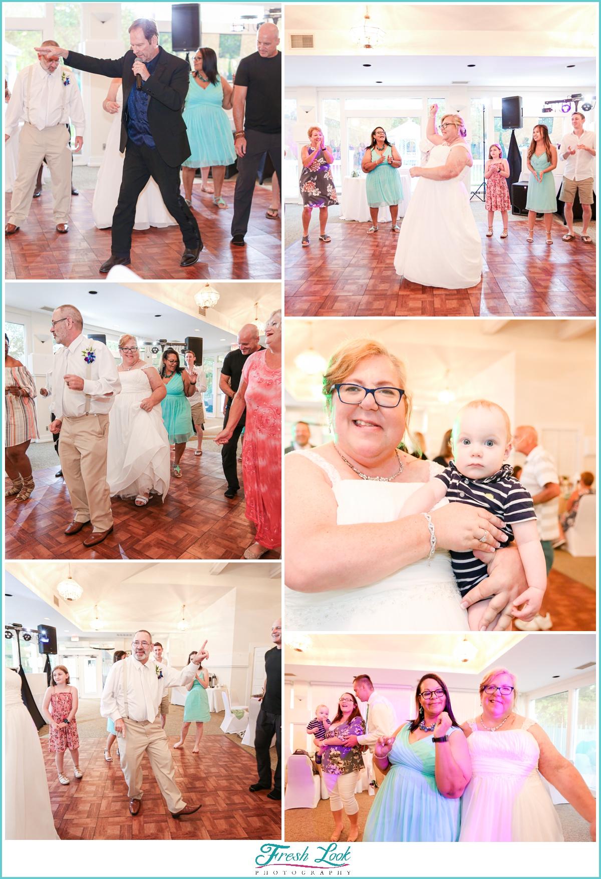 wedding reception fun in Chesapeake