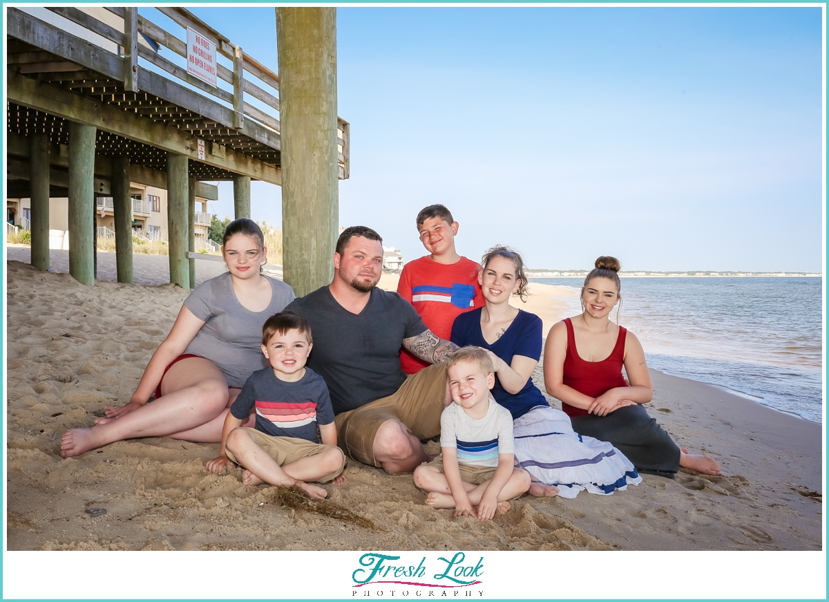 classy family portraits on the beach