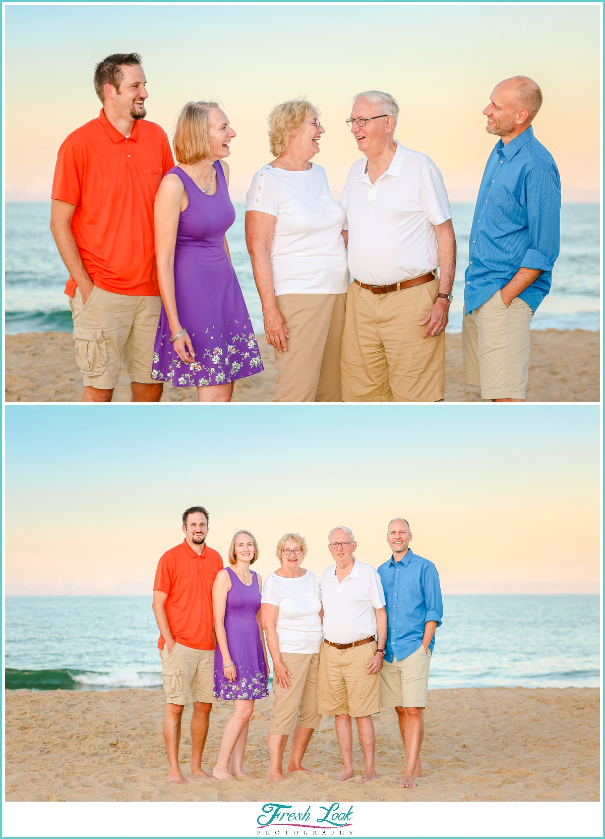 extended family beach photos