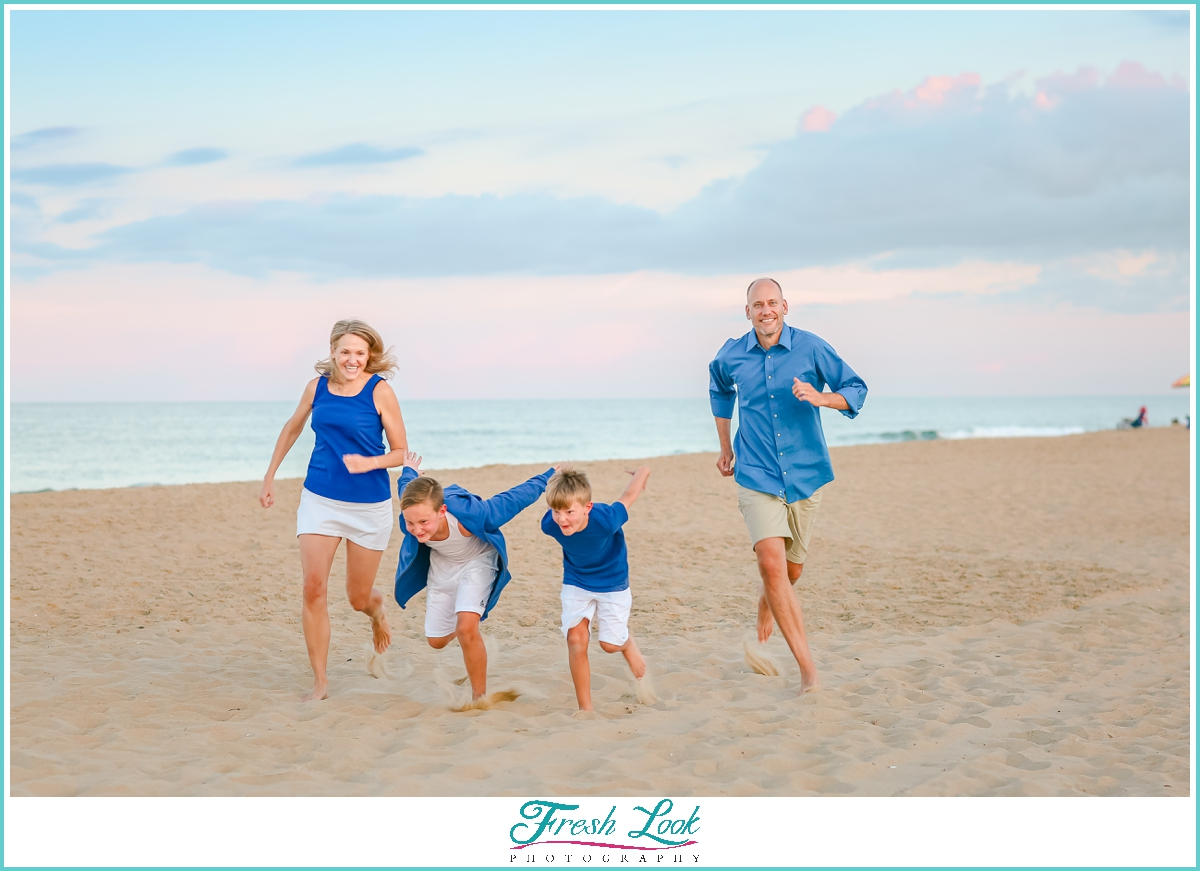 epic beach family photoshoot