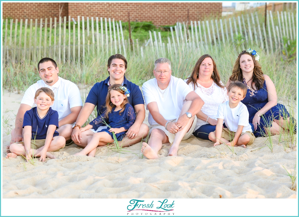 Family Beach Sunset Photoshoot