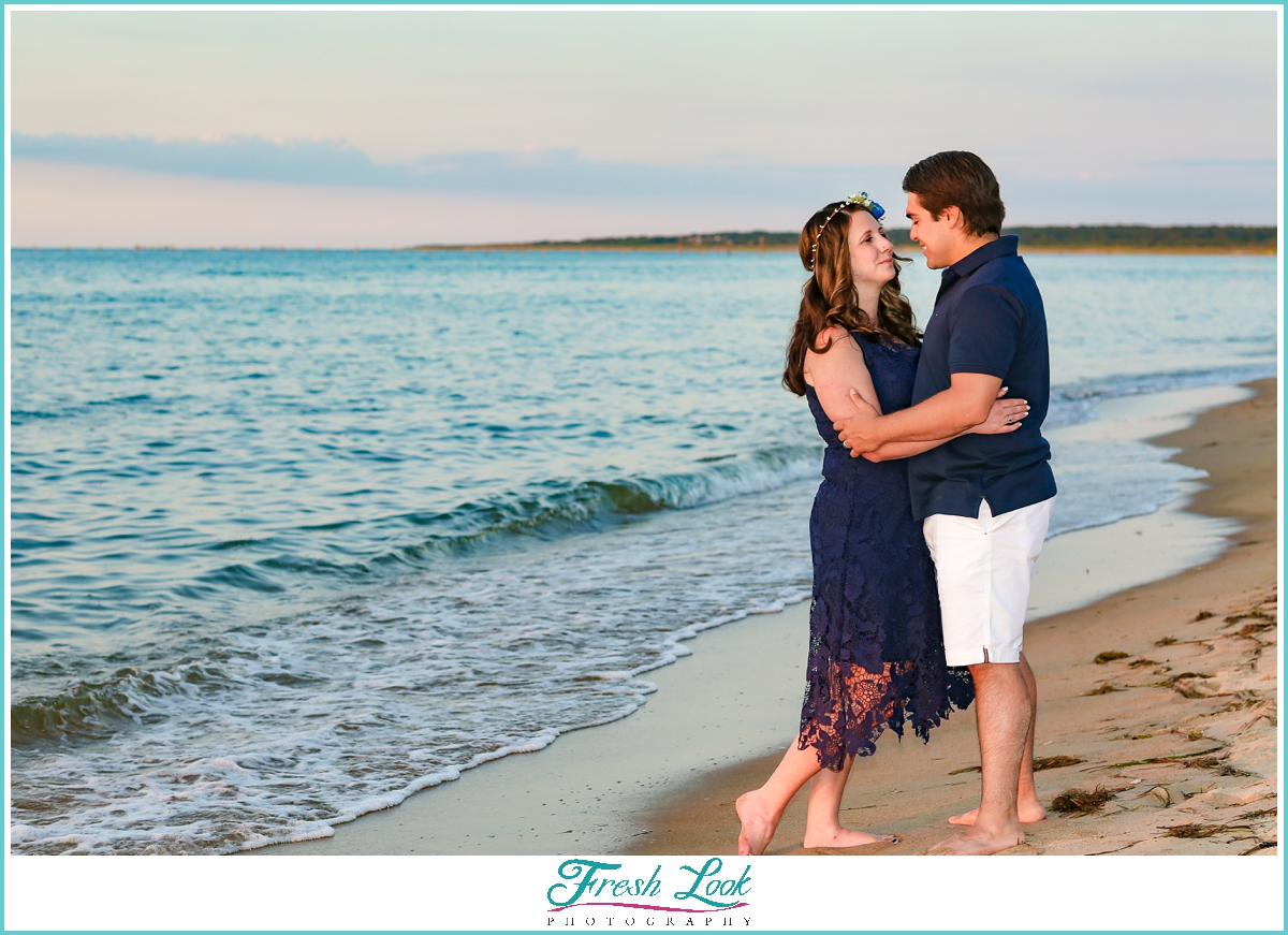 romantic couples beach photoshoot