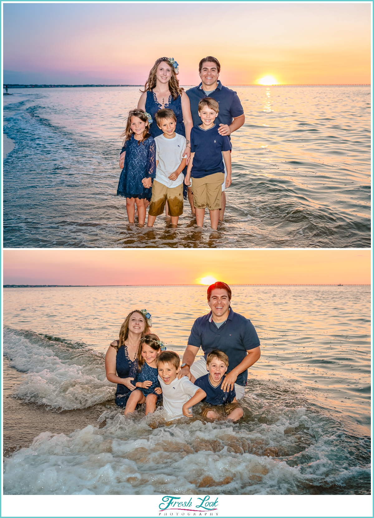 fun family beach photos