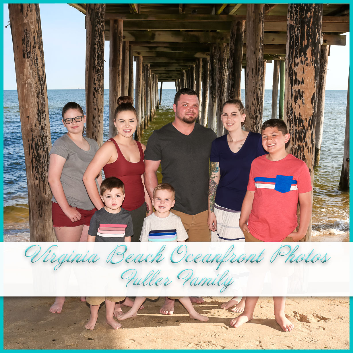 New family beach photos at Virginia Beach