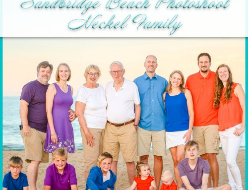 Sandbridge Sunset Photoshoot | Neckel Family
