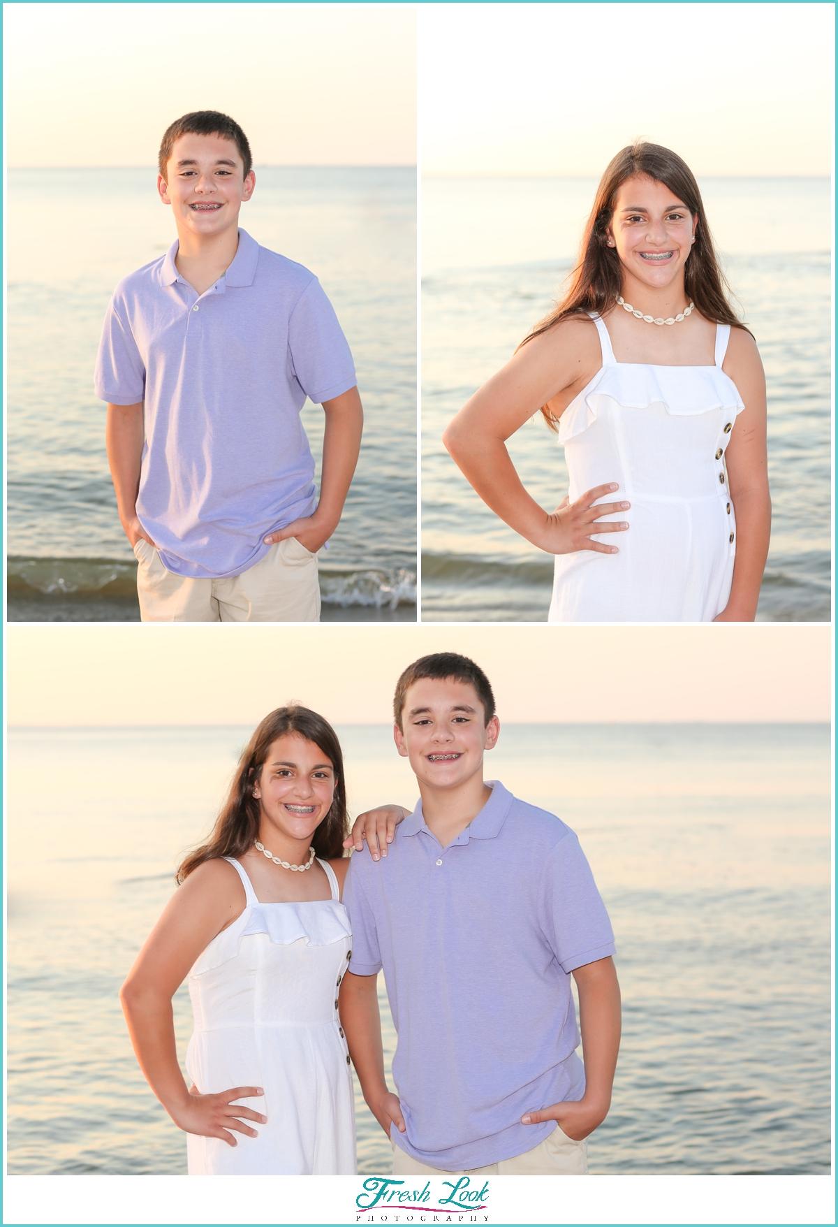 sibling photos in Virginia Beach